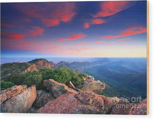 St Mary Peak Sunrise Wood Print