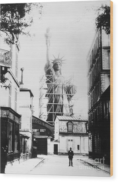 Statue Of Liberty, Paris Wood Print