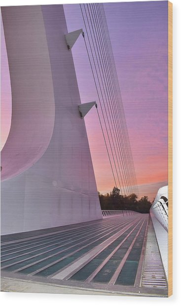 Sundial Bridge Wood Print