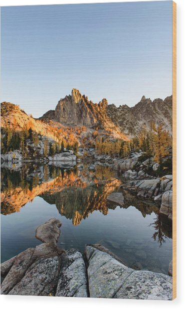 Sunrise In The Enchantments Wood Print