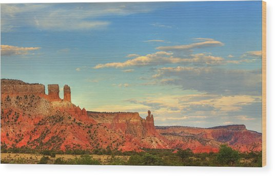 Sunset At Ghost Ranch Wood Print