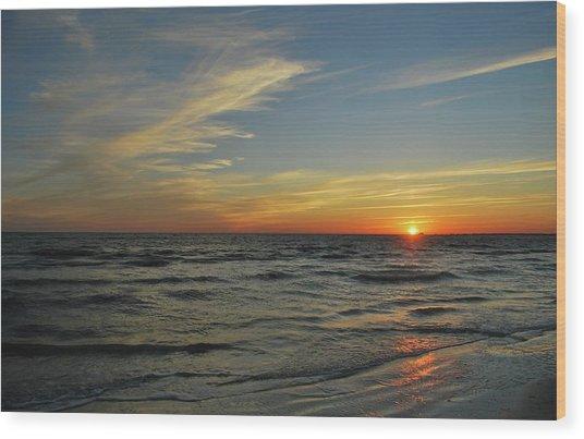 Sunset  Wood Print by Eva Ramanuskas