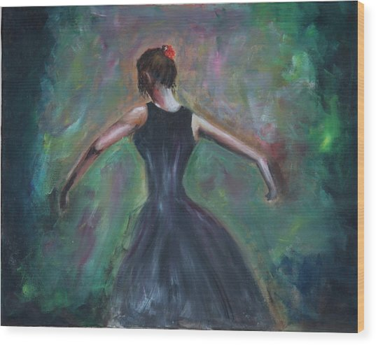 The Dancer Wood Print by Taly Bar