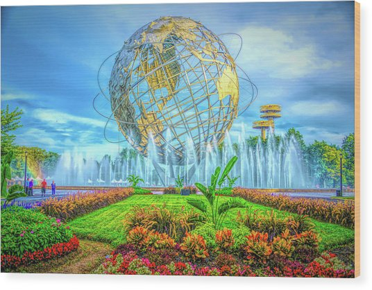 The Unisphere Wood Print