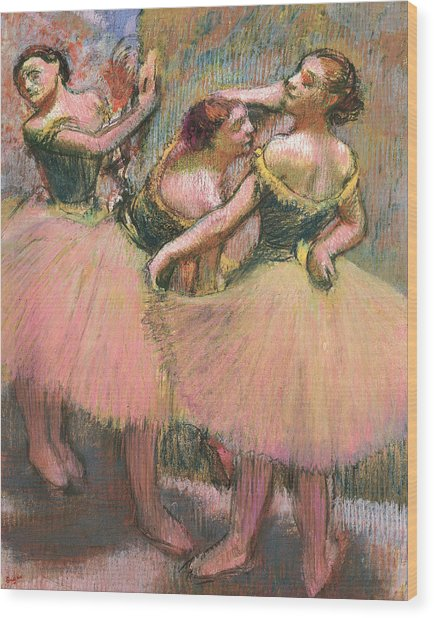 Three Dancers Wood Print