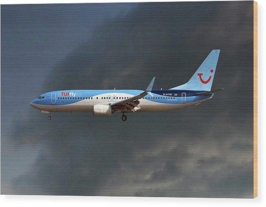 Tui Fly Boeing 737-8k5 Wood Print