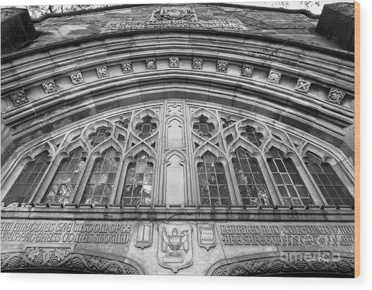 University Of Michigan Law Library Wood Print