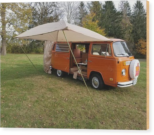 Volkswagen Bus T2 Westfalia Wood Print