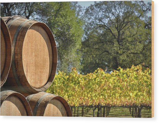 Wine Barrel Wood Print
