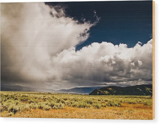 Wyoming Sky Wood Print by Patrick  Flynn