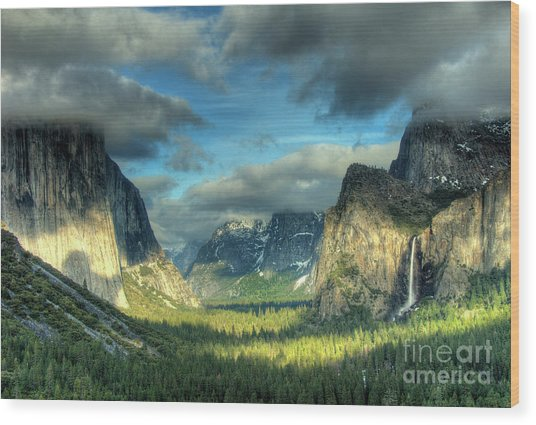 Yosemite Valley Wood Print by Marc Bittan