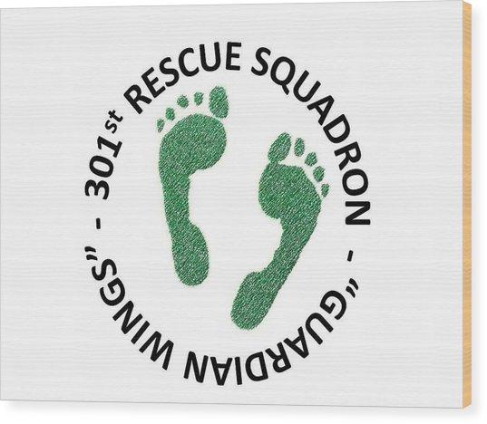 301st Rescue Squadron Wood Print