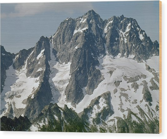 304630 North Face Mt. Stuart Wood Print