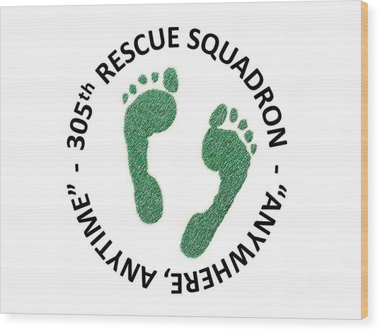 305th Rescue Squadron Wood Print