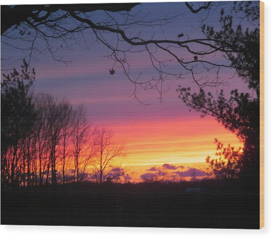 31 Oct 2012 Sunset Two Wood Print