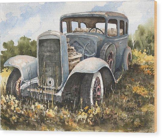 32 Buick Wood Print