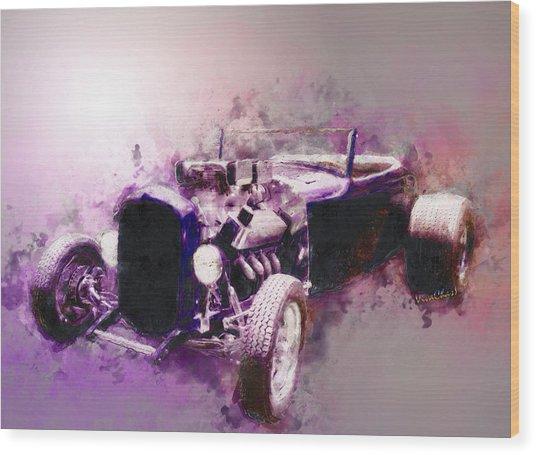32 Ford Low Boy Roadster Watercoloured Sketch Wood Print