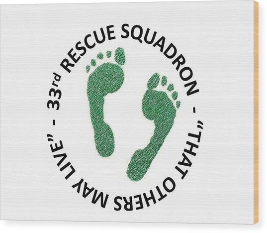 33rd Rescue Squadron Wood Print
