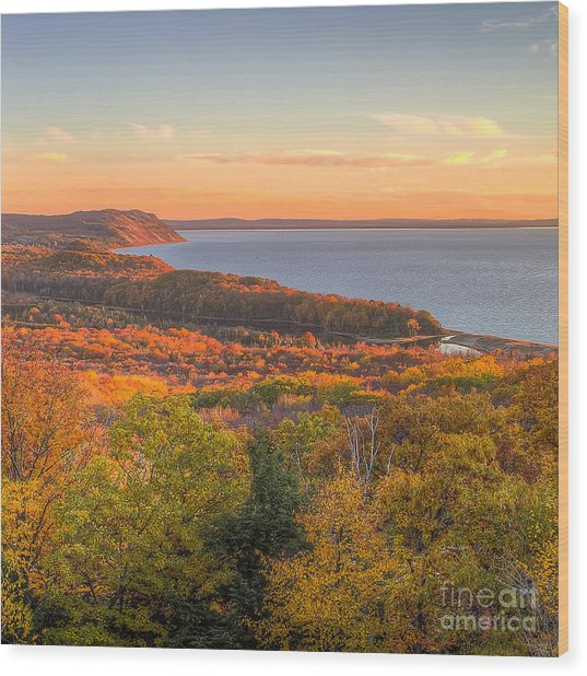 Fall In Sleeping Bear Dunes Wood Print by Twenty Two North Photography