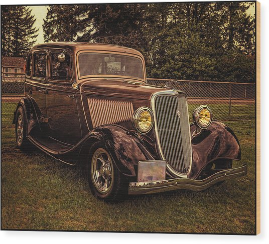 Cool 34 Ford Four Door Sedan Wood Print