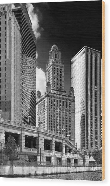 35 East Wacker Chicago - Jewelers Building Wood Print