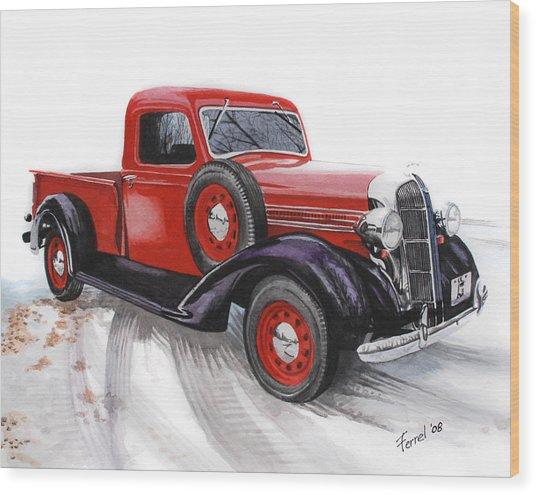 36 Dodge Wood Print