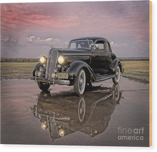 36 Plymouth Reflections Wood Print