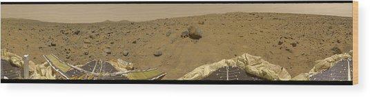 360 Degree Panorama Mars Pathfinder Landing Site Wood Print