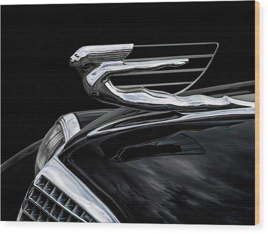 37 Cadillac Hood Angel Wood Print