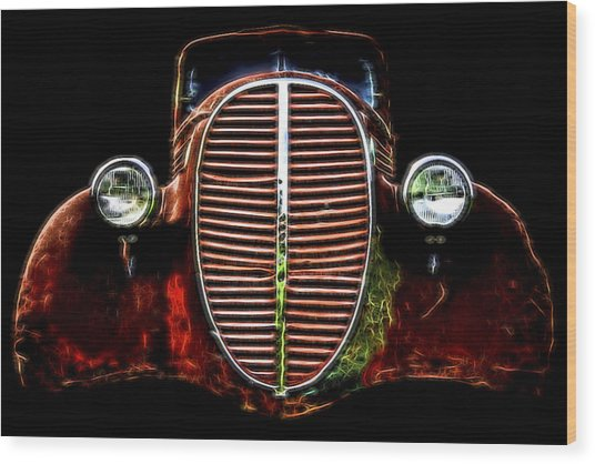 37 Chevy Wood Print