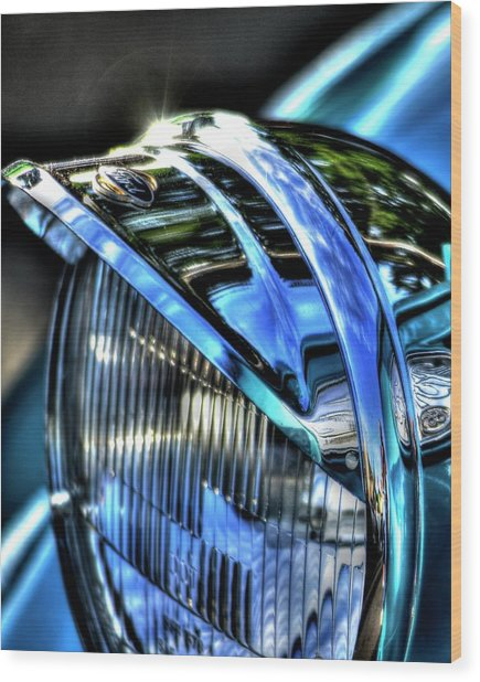 38 Ford Headlamp Wood Print