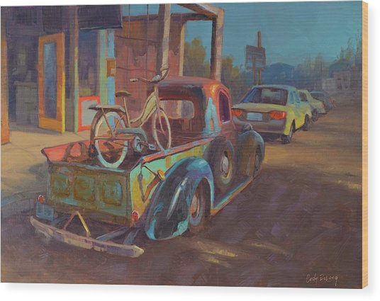 38' Ford In Jerome, Az Wood Print