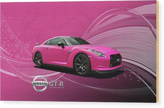 38217 Nissan Gt R  Wood Print