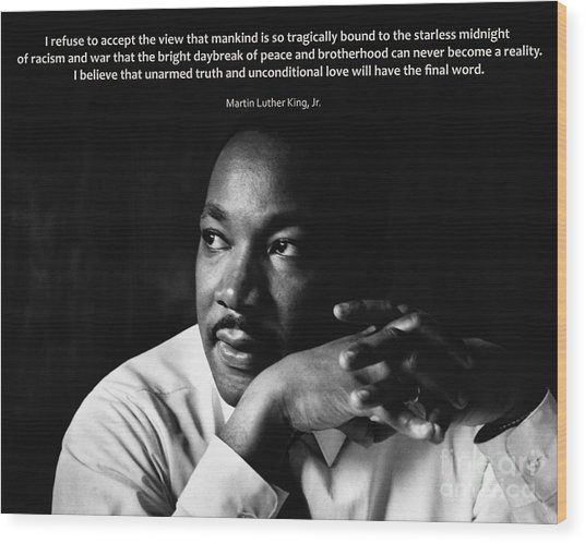 39- Martin Luther King Jr. Wood Print