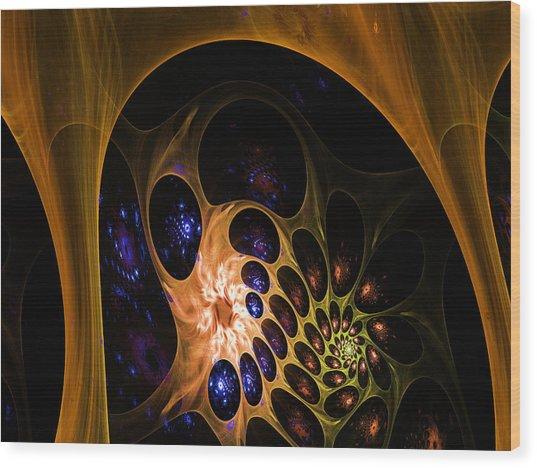 3d Chaotica Wood Print