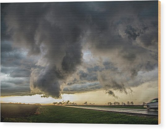 3rd Storm Chase Of 2018 051 Wood Print
