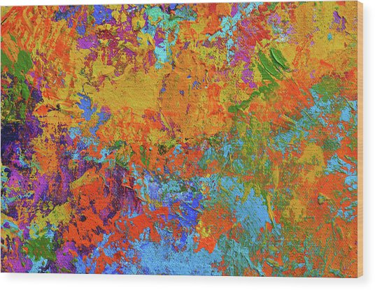 Abstract Painting Modern Art Contemporary Design Wood Print