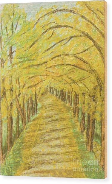 Autumn Landscape, Painting Wood Print