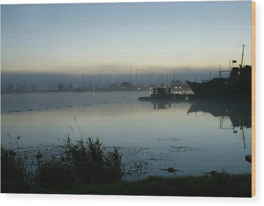 Ballyronan Marina Dawn Wood Print