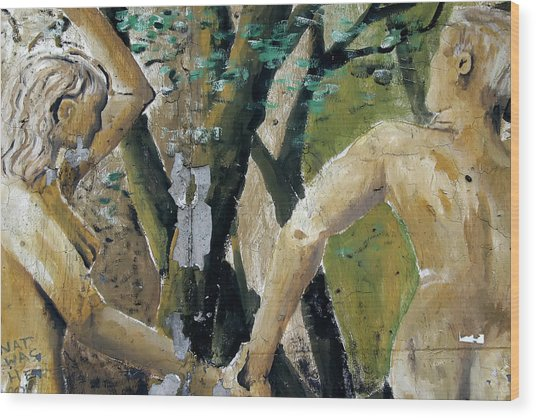 Berlin Wall Mural Wood Print