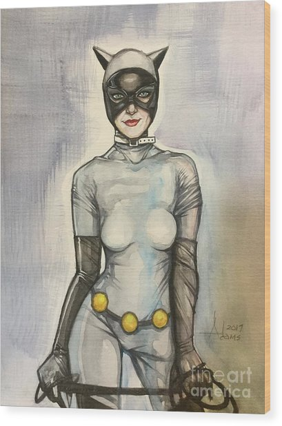 Catwoman  Wood Print