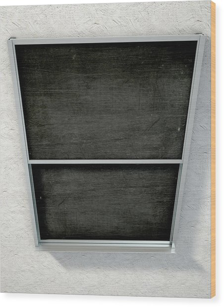Chalk Board Render Wood Print