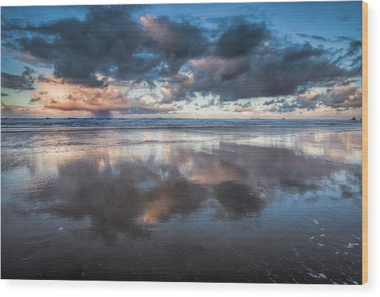 Coastal Reflections Wood Print by Andrew Soundarajan