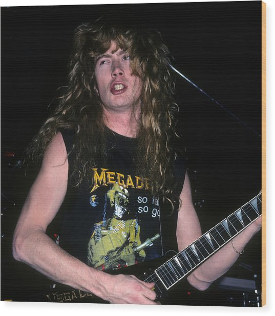 Dave Mustaine Of Megadeth Wood Print