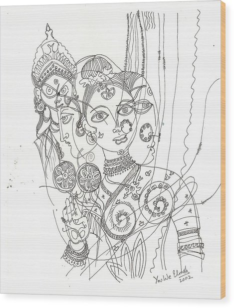 4 Deities Wood Print by Umesh U V