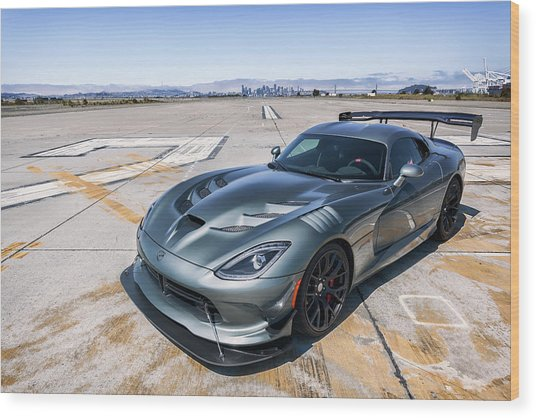 Wood Print featuring the photograph #dodge #acr #viper by ItzKirb Photography