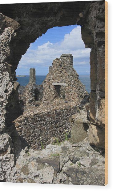 Dunluce Castle Northern Ireland Wood Print by Pierre Leclerc Photography