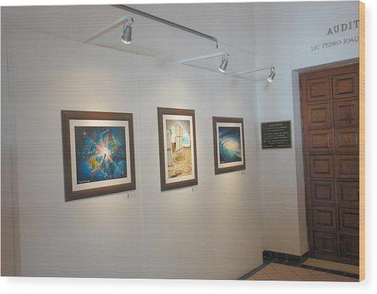 Exhibition Cozumel Museum Wood Print by Angel Ortiz