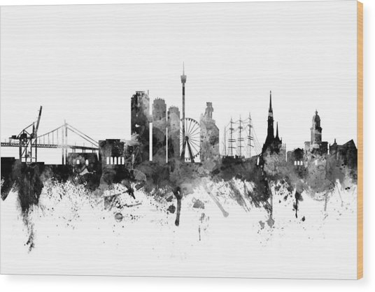 Gothenburg Sweden Skyline Wood Print