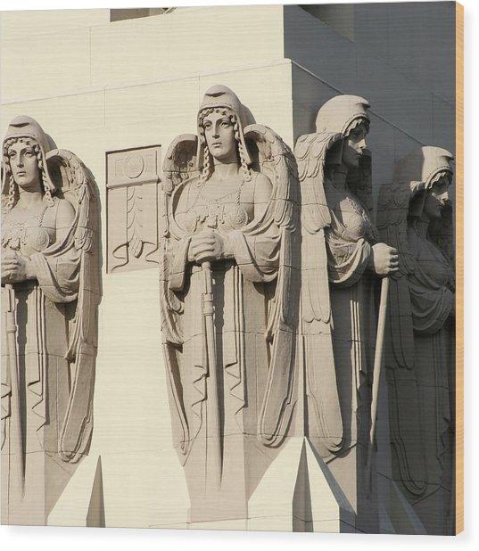 4 Guardian Angels Wood Print